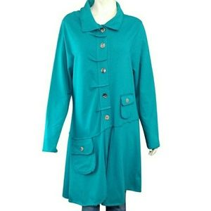 Color Me Cotton Alissa French Terry Duster Coat
